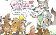 Loup mielleux & castors